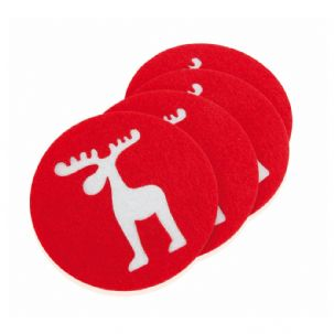 Set of 4 Reindeer Coasters